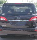 nissan quest 2011 black amethyst van sl gasoline 6 cylinders front wheel drive automatic 33884
