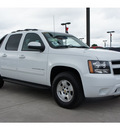 chevrolet avalanche 2011 white ls flex fuel 8 cylinders 2 wheel drive automatic 77090