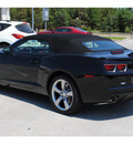 chevrolet camaro convertible 2011 black ss gasoline 8 cylinders rear wheel drive automatic 77090