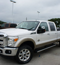 ford f 350 super duty 2011 white lariat fx4 biodiesel 8 cylinders 4 wheel drive shiftable automatic 76205