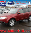 subaru forester 2010 red suv 2 5x premium gasoline 4 cylinders all whee drive autostick 55811