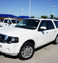 ford expedition el 2011 white suv limited flex fuel 8 cylinders 2 wheel drive 6 speed automatic 76205