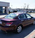 honda accord 2008 dk  red sedan ex l v6 gasoline 6 cylinders front wheel drive automatic 76205