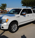 ford f 150 2011 white platinum platinum flex fuel 8 cylinders 2 wheel drive automatic 76205