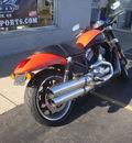 harley davidson vrscr 2007 orange street rod 2 cylinders 5 speed 45342