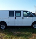 gmc savana cargo 2010 white van 2500 flex fuel 8 cylinders 2 wheel drive automatic 44024