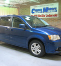 dodge grand caravan 2011 deep water blue van crew flex fuel 6 cylinders front wheel drive automatic 44883