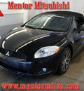 mitsubishi eclipse spyder 2011 black gs sport gasoline 4 cylinders front wheel drive automatic 44060