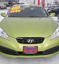 hyundai genesis 2010 green coupe gasoline 4 cylinders rear wheel drive 6 speed manual 13502