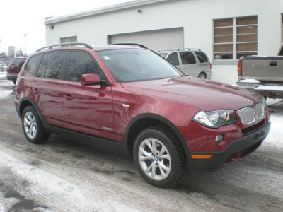 bmw x3 2009 red suv xdrive30i gasoline 6 cylinders all whee drive automatic 13502
