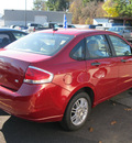 ford focus 2009 red sedan se gasoline 4 cylinders front wheel drive automatic with overdrive 13502