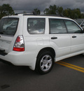 subaru forester 2007 white suv 2 5 x gasoline 4 cylinders all whee drive automatic 13502