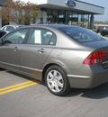 honda civic 2008 gray sedan lx gasoline 4 cylinders front wheel drive automatic 13502