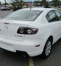 mazda mazda3i 2007 white sedan gasoline 4 cylinders front wheel drive automatic 13502