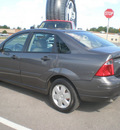 ford focus 2007 gray sedan gasoline 4 cylinders front wheel drive automatic with overdrive 13502