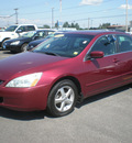 honda accord 2005 maroon sedan ex gasoline 4 cylinders front wheel drive automatic 13502