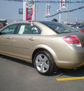 saturn aura 2007 tan sedan xe gasoline 6 cylinders front wheel drive automatic 13502
