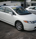 honda civic 2006 white sedan lx gasoline 4 cylinders front wheel drive 5 speed manual 13502