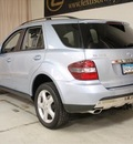 mercedes benz m class 2008 lt  blue suv ml350 4wd navi gasoline 6 cylinders all whee drive automatic 55391