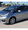 honda fit 2010 gray hatchback sport gasoline 4 cylinders front wheel drive automatic 77065