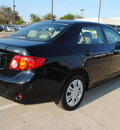 toyota corolla 2009 black sedan xle gasoline 4 cylinders front wheel drive automatic 75228