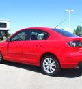 mazda mazda3 2007 red sedan i sport gasoline 4 cylinders front wheel drive automatic 80504