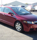 honda civic 2009 maroon sedan lx gasoline 4 cylinders front wheel drive automatic 12401