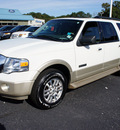ford expedition el 2008 white suv eddie bauer gasoline 8 cylinders 4 wheel drive automatic with overdrive 08753