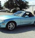 mazda miata 2001 blue gasoline 4 cylinders rear wheel drive automatic 32901