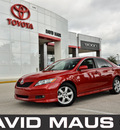 toyota camry 2007 red sedan se gasoline 4 cylinders front wheel drive automatic 32771