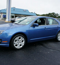 ford fusion 2010 blue sedan se gasoline 4 cylinders front wheel drive automatic with overdrive 08753