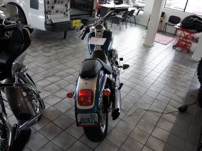 harley davidson fxstd 2004 blue softail deuce 2 cylinders not specified 98371