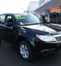 subaru forester 2009 black suv 2 5 x gasoline 4 cylinders all whee drive automatic 07701