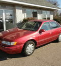 ford taurus 1994 red sedan gl gasoline v6 front wheel drive automatic 55016