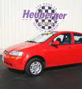 chevrolet aveo 2004 red hatchback gasoline 4 cylinders front wheel drive automatic 80905