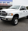 dodge ram pickup 2500 2004 white laramie hd 4x4 hemi gasoline 8 cylinders 4 wheel drive automatic 98371