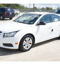 chevrolet cruze 2012 white sedan ls gasoline 4 cylinders front wheel drive automatic 77090