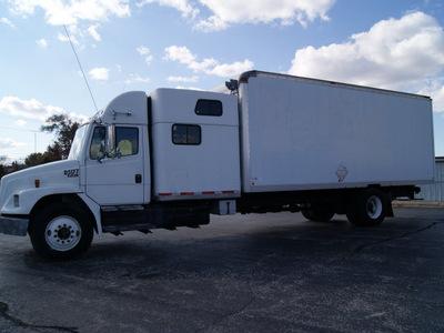 freightliner fl80 2001 white box truck w sleeper diesel automatic 61008
