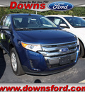 ford edge 2012 dk  blue se gasoline 4 cylinders front wheel drive automatic 08753
