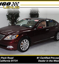 lexus ls 460 2009 nobel spinel mica sedan gasoline 8 cylinders rear wheel drive automatic 91731