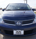 nissan versa 2009 dk  blue hatchback 1 8 sl gasoline 4 cylinders front wheel drive automatic with overdrive 76018