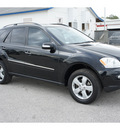 mercedes benz m class 2006 black suv ml500 gasoline 8 cylinders all whee drive automatic 77388