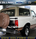 ford bronco 1995 white suv eddie bauer gasoline v8 4 wheel drive automatic with overdrive 98632