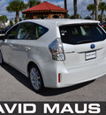 toyota prius 2012 white wagon v hybrid 4 cylinders front wheel drive automatic 32771