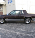 oldsmobile cutlass supreme 1987 burgundy silver coupe 442 gasoline v8 rear wheel drive automatic with overdrive 45840
