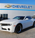 chevrolet camaro 2012 white coupe ls gasoline 6 cylinders rear wheel drive automatic 76087