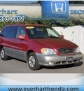 kia sedona 2003 red van ex gasoline 6 cylinders dohc front wheel drive automatic 28677
