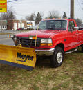 ford f 250 1995 red pickup truck xl w plow gasoline v8 4 wheel drive automatic 43560