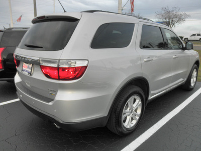 dodge durango 2011 silver suv crew gasoline 6 cylinders rear wheel drive automatic 34474