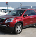 gmc acadia 2007 red suv slt gasoline 6 cylinders front wheel drive automatic 77090